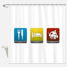 Eat, Sleep, Goalie Shower Curtain
