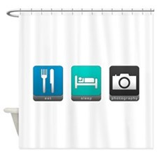 Eat, Sleep, Photography Shower Curtain