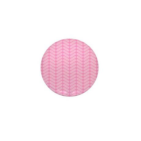 Pink Zig Zag Pattern. Mini Button (100 pack)