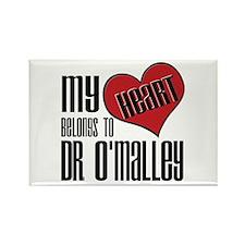 Heart Belongs Dr. O'Malley Rectangle Magnet