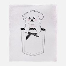 Cute puppy dog in pocket Throw Blanket