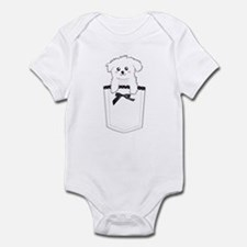 Cute puppy dog in pocket Infant Bodysuit