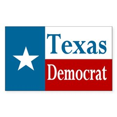 Texas Democrat Rectangle Decal