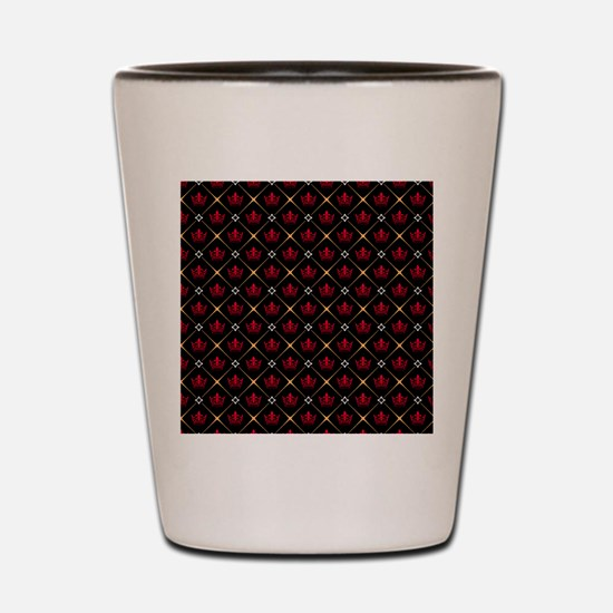 Red Crown Pattern Shot Glass