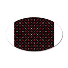 Red Crown Pattern Wall Decal