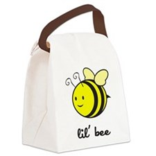 bee_7x7_apparel.png Canvas Lunch Bag