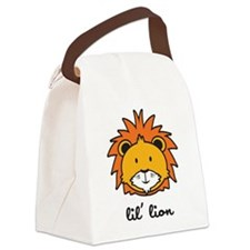 lion_7x7_apparel.png Canvas Lunch Bag