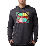 Abstract Peace Sign Mens Hooded Shirt