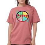 Abstract Peace Sign Womens Comfort Colors Shirt