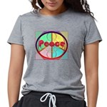 Abstract Peace Sign Womens Tri-blend T-Shirt