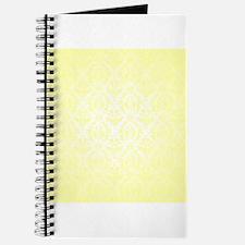 Yellow Faded Damask Journal