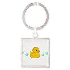 Rubber Duck Square Keychain