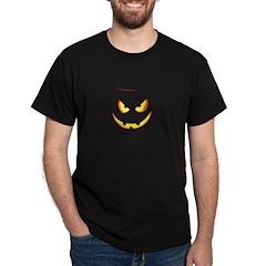 Evil Glowing Jack o'Lantern Face Black T-Shirt