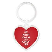 K C Youre Only 99 Heart Keychain