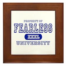 Fearless University Framed Tile
