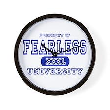 Fearless University Wall Clock