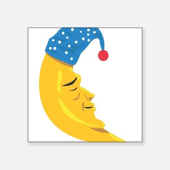 "Sleepy Moon Square Sticker 3"" x 3"""