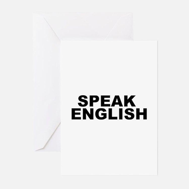 Speak English Greeting Cards (Pk of 10)