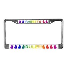 Rabbits Rule License Plate Frame