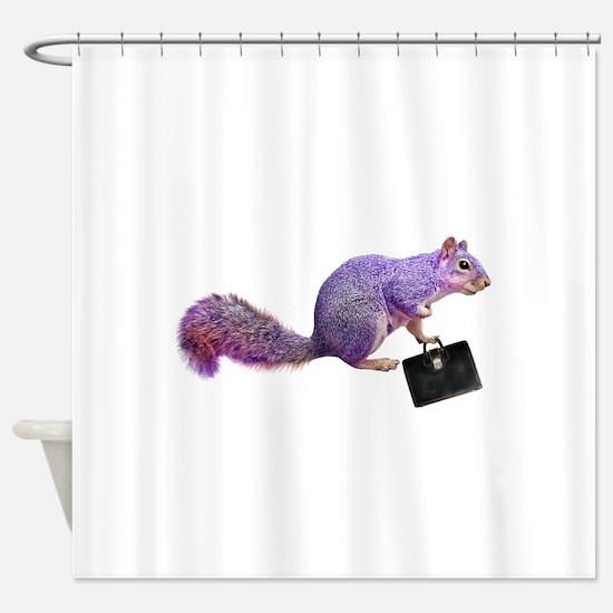 Purple Squirrel Shower Curtain