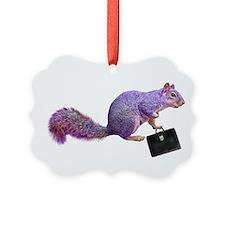 Purple Squirrel Ornament