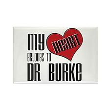 Heart Belongs To Dr. Burke Rectangle Magnet