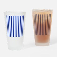 Blue and white stripes Drinking Glass