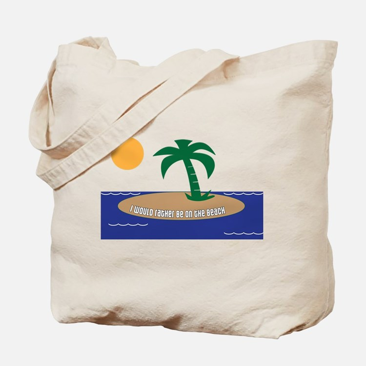 Island Beach Saying Tote Bag