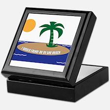 Island Beach Saying Keepsake Box