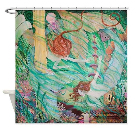 Mermaids in Atlantis Shower Curtain