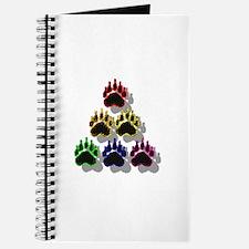 6 RAINBOW BEAR PAWS SHADOWED Journal