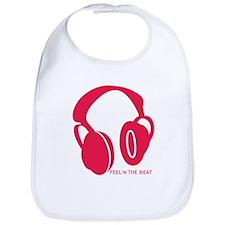 Headphones Beat Bib