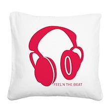 Headphones Beat Square Canvas Pillow