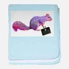 Purple Squirrel baby blanket