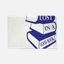 Lost in Books Rectangle Magnet