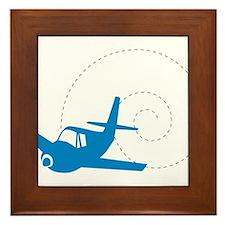 Airplane Loop Framed Tile