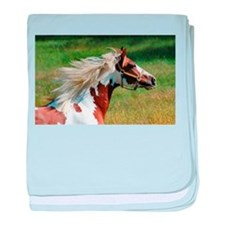 My Paint Horse Profile baby blanket