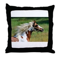 My Paint Horse Profile Throw Pillow