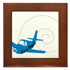 Airplane Its a Boy Framed Tile