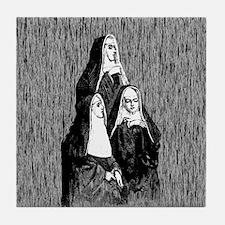 Vintage Illustration Of Nuns Tile Coaster