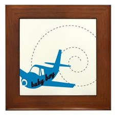 Airplane Baby Boy Framed Tile