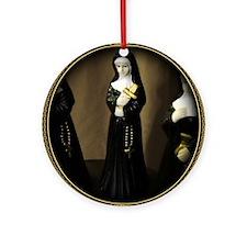 Fancy Nun Ornament (Round)