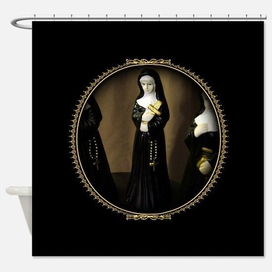 Fancy Nun Shower Curtain