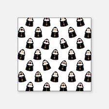 "Cute Nuns Square Sticker 3"" x 3"""
