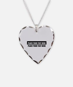 Add text message Necklace