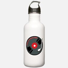 Record Spinning Tunes Water Bottle
