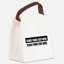 Add text message Canvas Lunch Bag