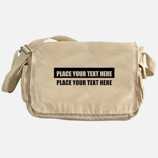 Add text message Messenger Bag