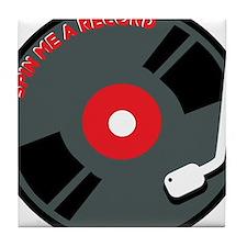 Spin Me a Record Tile Coaster