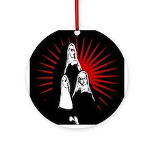 Nuns Graphic Ornament (Round)